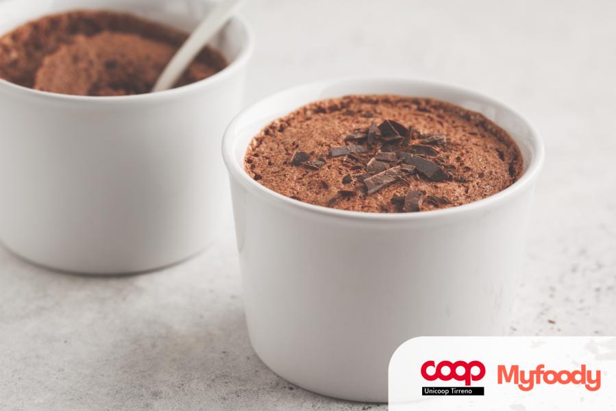 Acquafaba in una mousse al cioccolato