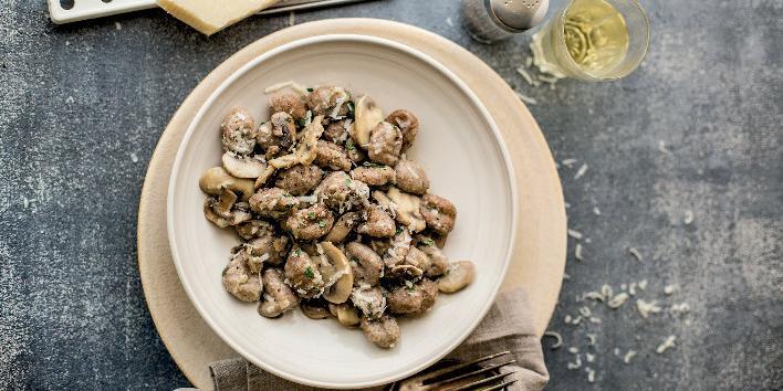 Gnocchi integrali e champignon